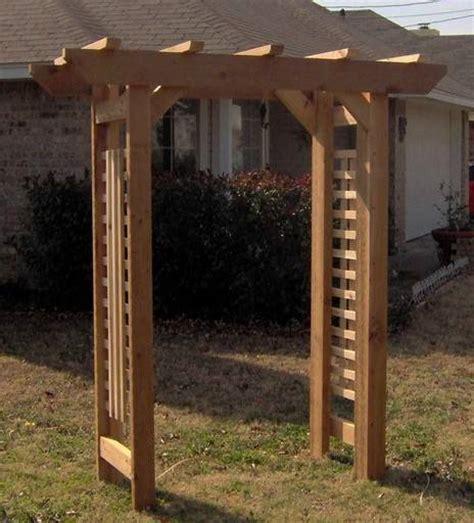 new cedar wood deluxe classic garden arbor pergola arch
