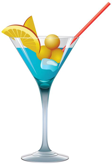 blue martini clip tropical cocktail clipart 39