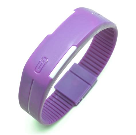Promo Jam Tangan Led Gelang Sport Nikey Purple New jam tangan led gelang sport no logo purple
