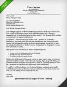 Cover Letter For Assistant Restaurant Manager