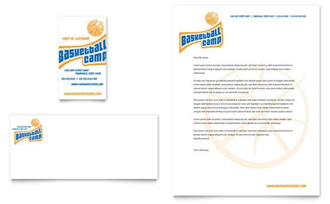 athletic business card template basketball sports c business card letterhead template
