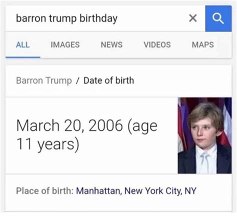 new year date of birth barron birthday all images news maps barron
