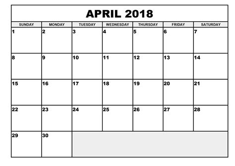 printable calendar april 2018 printable calendar april 2018 larissanaestrada com