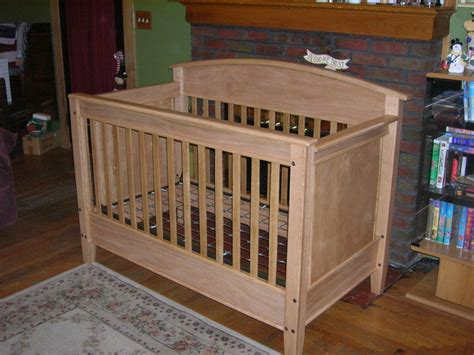 Oak Crib By Lac14903 Lumberjocks Com Woodworking Plans For Baby Crib
