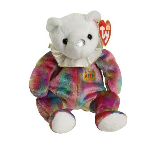 ty beanie baby april the birthday bear 7 5 inch mwmt s stuffed animal toy ebay