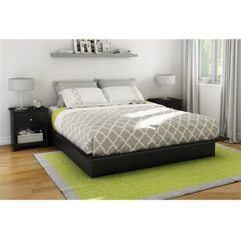 platform beds walmart south shore basics queen platform bed with molding multiple finishes walmart com