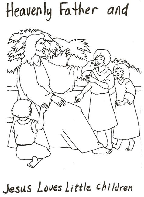 lds coloring pages heavenly father lds nursery color pages 6 heavenly father jesus love me
