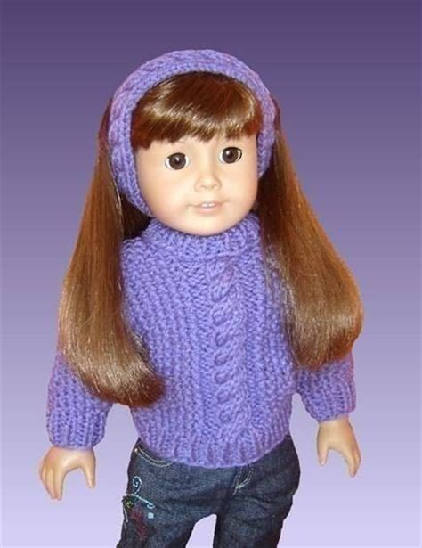 knit sweater pattern 18 inch doll 18 inch doll knitting pattern fits american girl doll