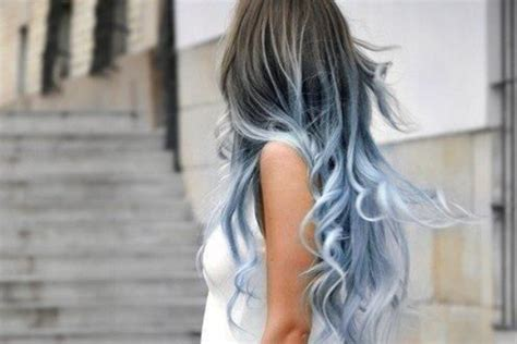 brownish blavk hair with a coiple of blue braids for 10year olds 30 pretty blue hairstyles for women pretty designs