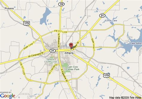 map of athens texas map of inn express hotel suites athens athens