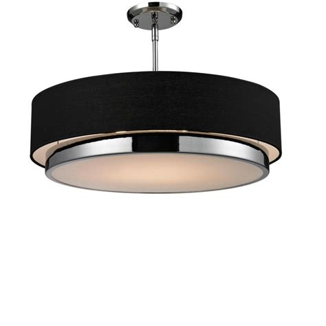 z lite lighting reviews z lite jade 3 light drum pendant in black linen l