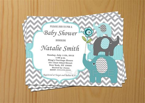 Elephant Baby Boy Shower Invitations by Baby Shower Invitation Boy Elephant Baby Shower Invitation