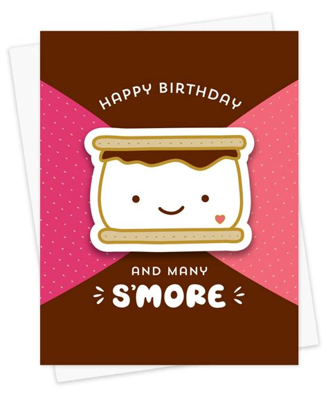 smore birthday cards night owl paper goods stationery wood gifts