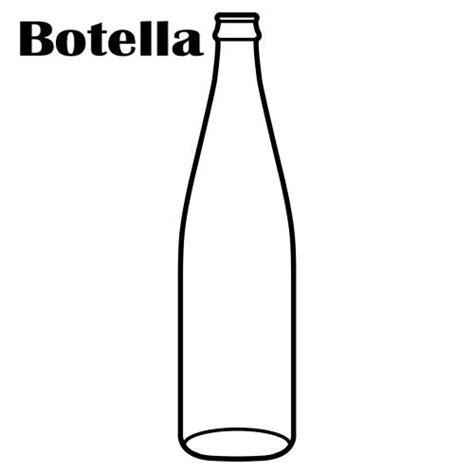 dibujos realistas botella colorear dibujos de botellas