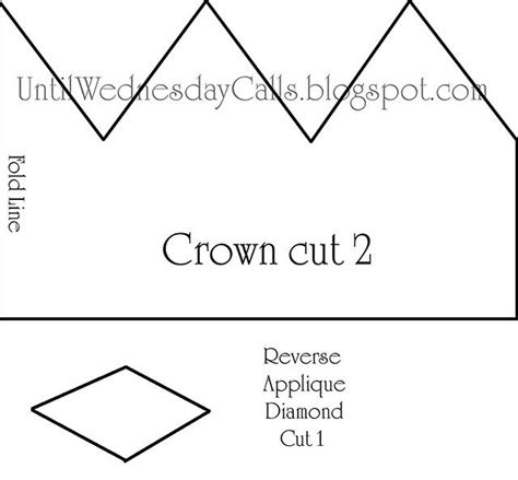 Pattern For Felt Birthday Crown | felt crown pattern1 by cara mia via flickr templates