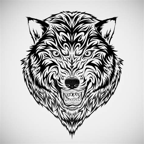 tribal wolf head tattoo wolf tribal by kuzzie 013 on deviantart