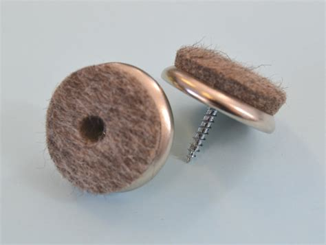 Felt Chair Glides 28mm x 15mm nickel glide with felt and x 50pcs