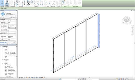curtain wall mullion revit cannot select or edit individual panels or mullions in a