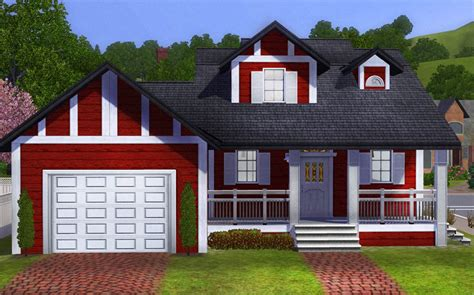Mod The Sims Big Family Small Budget 5 Mod The Sims Budget Home With Garage 2 Bedrooms