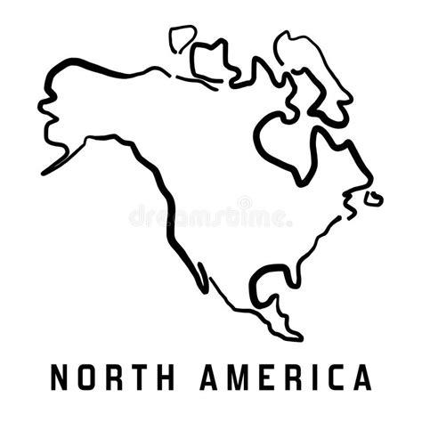 america outline stock vector illustration of