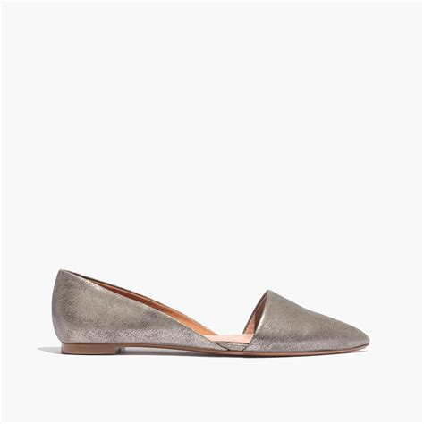 Cath Pointy Flat madewell the lydia flat in metallic in gray lyst