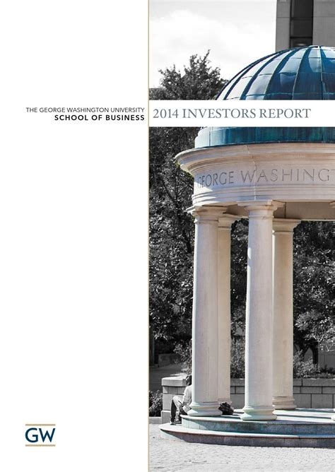 Gwu Mba Alumni by Investor S Report 2014 George Washington