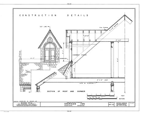 Split Level Floor Plans by File Construction Detail Section Of Roof And Dormer