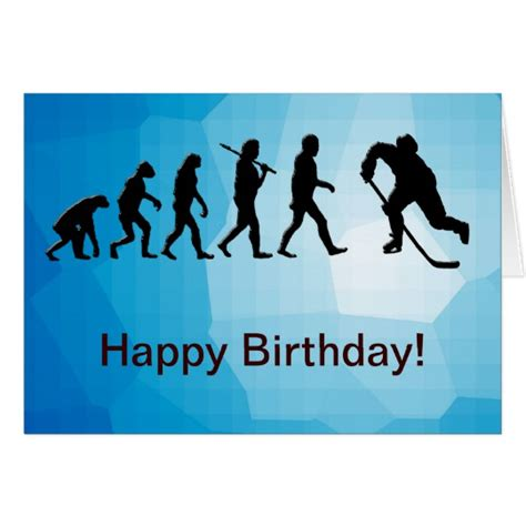 Hockey Birthday Card Template by Hockey Happy Birthday Card Zazzle