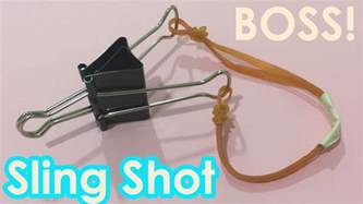 How To Make Paper Slingshot - how to make a slingshot using paperclip easy