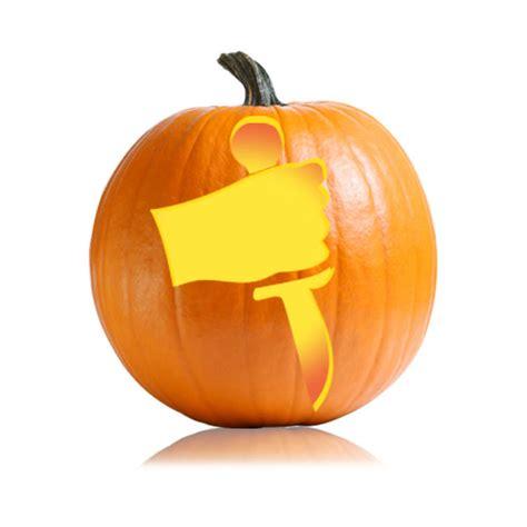Knife Pumpkin Pattern | knife wielder pumpkin pattern ultimate pumpkin stencils