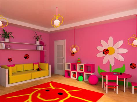 Carpet For Dining Room Cute Pink Kids Room With Flowers Interior Design Ideas