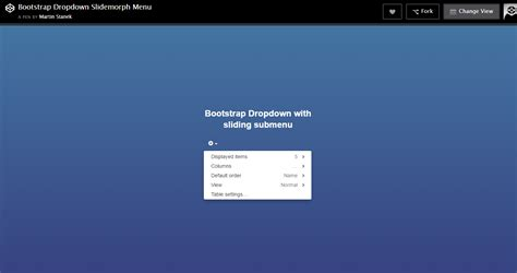 design dropdown menu bootstrap codehints bootstrap dropdown slidemorph menu