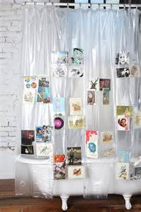 photo shower curtain pockets