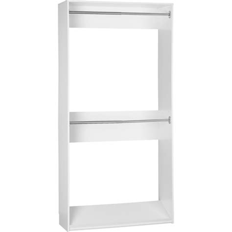 Walmart Closet System by Systembuild Closet Organizer 42 Inch Expander White