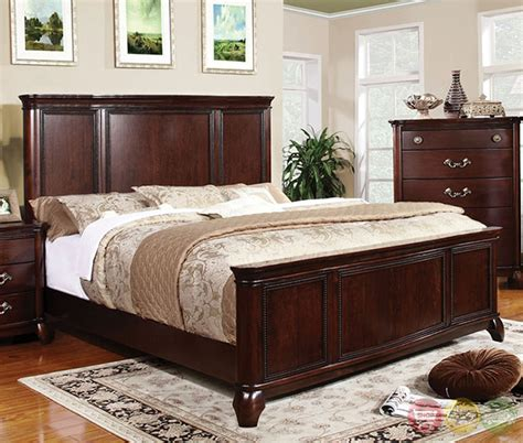 cherry bedroom sets claymont traditional cherry bedroom set with large raised