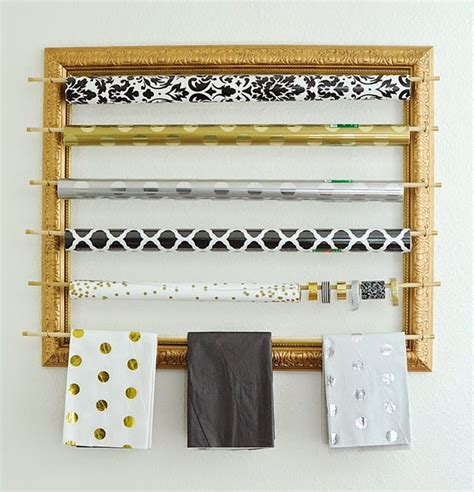 gift wrap wall organizer diy picture frame gift wrap organizer wants it