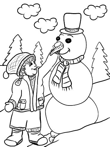 carrot nose coloring page free printable winter coloring pages for kids crafty morning