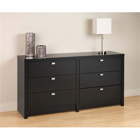 6 Drawer Black Dresser by Prepac Series 9 Designer 6 Drawer Dresser Black Bdbr 0560 1