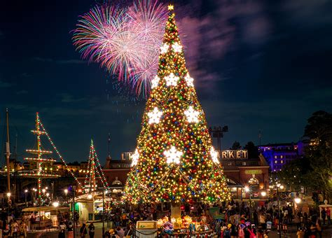 christmas christmas tree disney disneyland magic kingdom