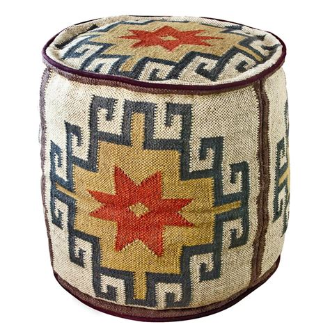 Colored Ottomans Mount Fray Colored Rustic Ottoman Kathy Kuo Home