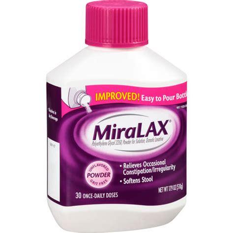 miralax laxative powder directions
