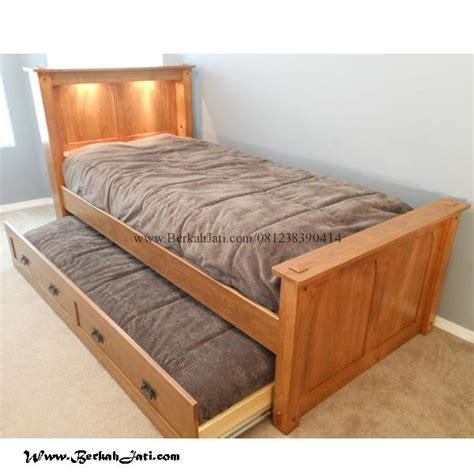 Tempat Tidur Sorong Minimalis tempat tidur anak simple model sorong berkah jati