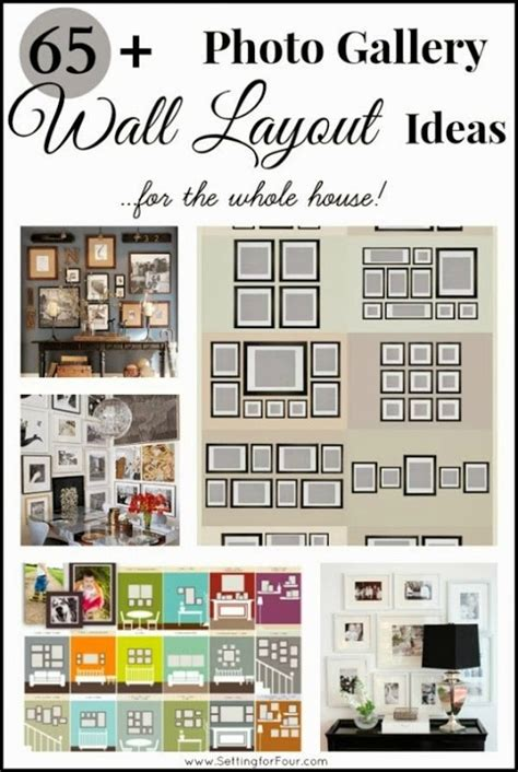 wall templates for hanging pictures 65 plus photo gallery wall layout ideas setting for four