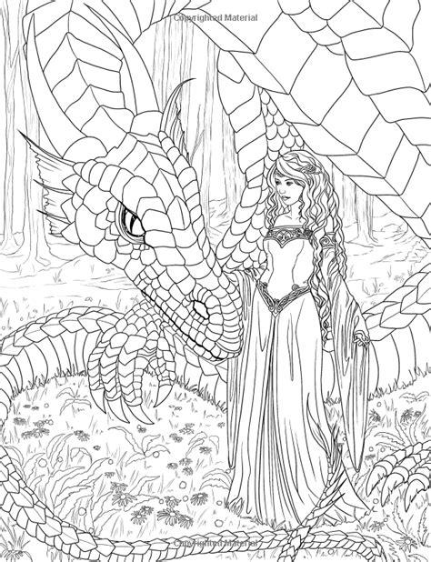 elf princess coloring page artist selina fenech fantasy myth mythical mystical legend