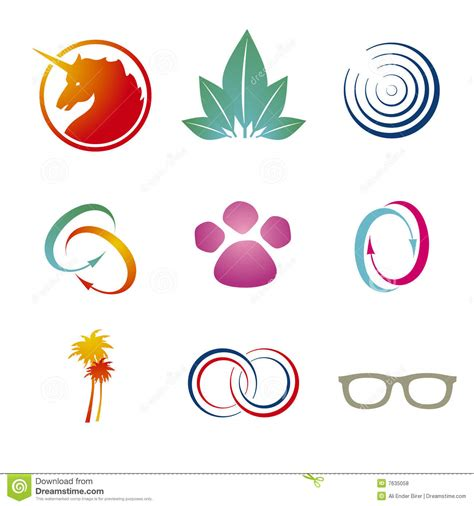 branding logo templates stock vector illustration of