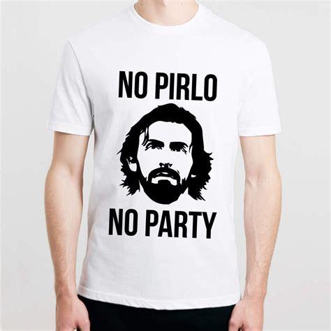 Promo Kaos T Shirt Juventus New Logo Terbaru 1 no pirlo no printed mens t shirt andrea juventus italy cool football t shirt 100