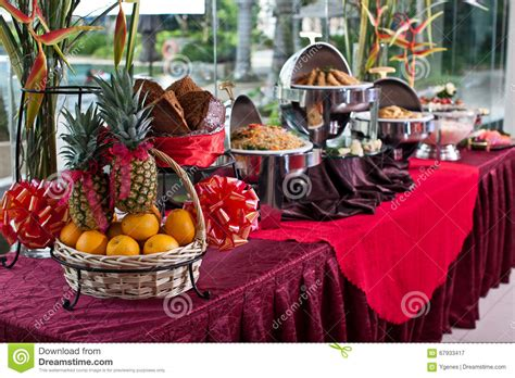the line new year buffet new year buffet setting stock image image 67933417