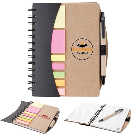 Branded Executive Notebooks Promo Offer By Brand - promotional valumark eco spiral sticky flag notebook