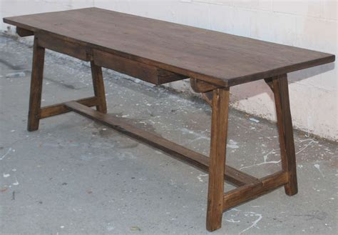 Work Tables With Drawers by Fir Work Table With Two Drawers For Sale At 1stdibs