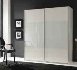 munich 2 door sliding wardrobe white and white glass
